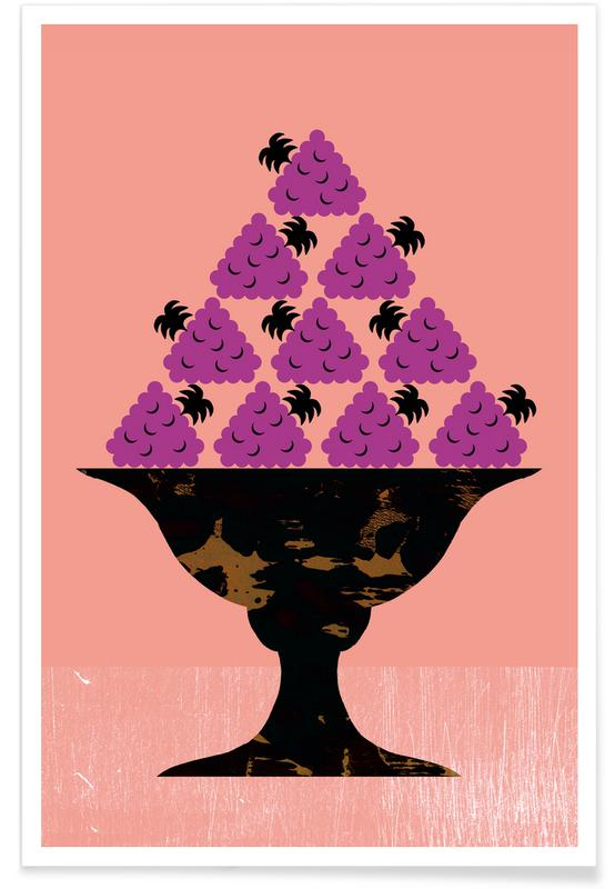 Blackberry Illustration Poster