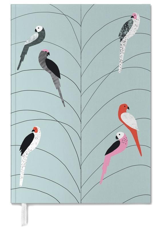 Tropicana - Birds on Branch Grey -Terminplaner