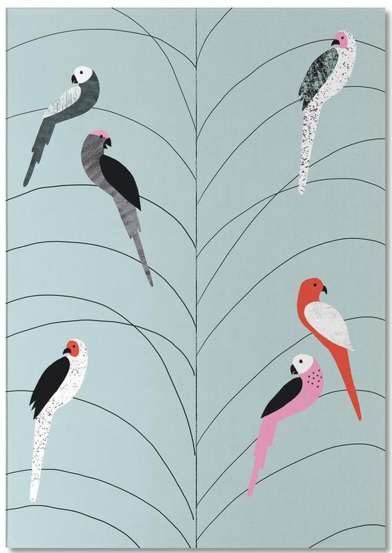Tropicana - Birds on Branch Grey Notepad