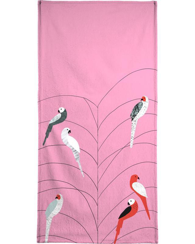 Tropicana - Birds on Branch Pink -Strandtuch