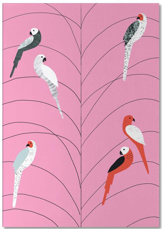 Tropicana - Birds on Branch Pink Notepad