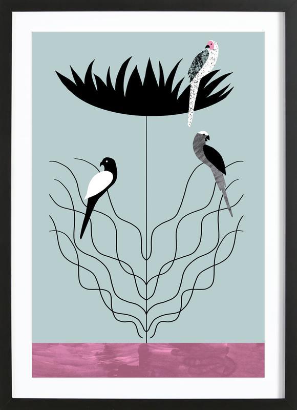 Tropicana - Big Flower Framed Print