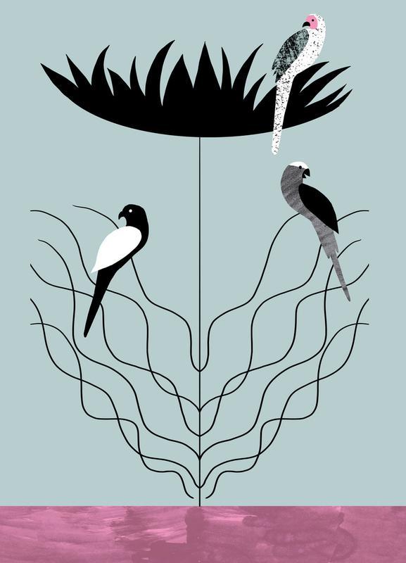 Tropicana - Big Flower Canvas Print
