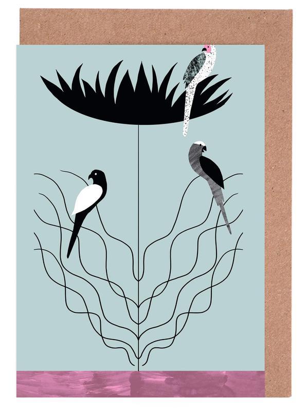 Tropicana - Big Flower Greeting Card Set
