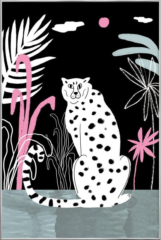 Tropicana - Cheetah and Jungle -Poster im Alurahmen