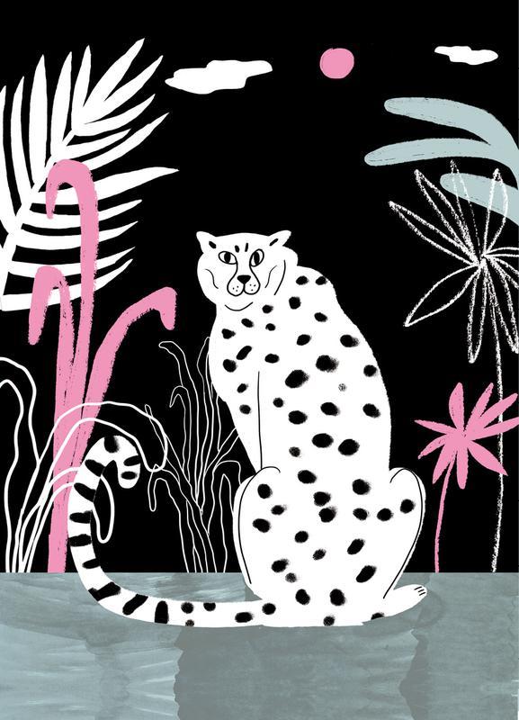 Tropicana - Cheetah and Jungle Canvas Print