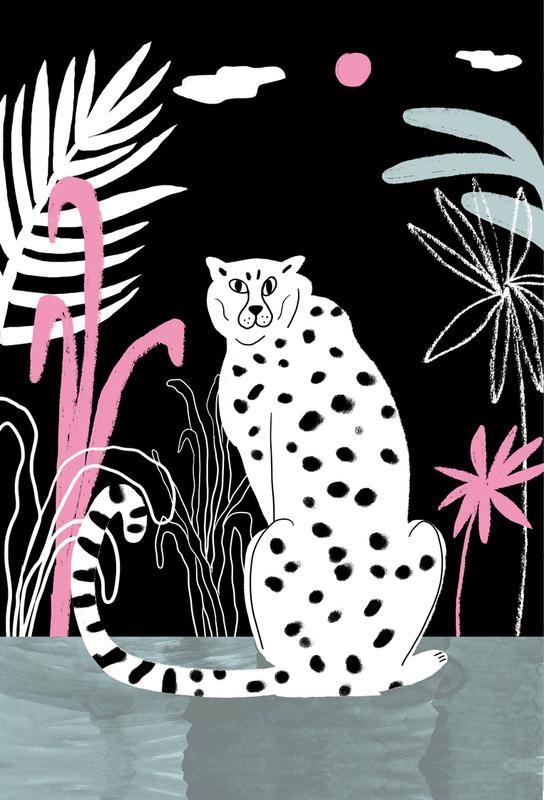 Tropicana - Cheetah and Jungle Aluminium Print