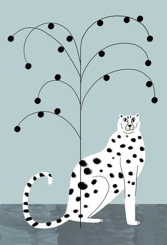 Tropicana - Cheetah and Tree Aluminium Print