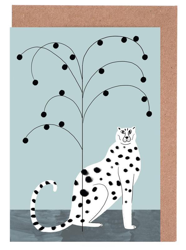 Tropicana - Cheetah and Tree Greeting Card Set