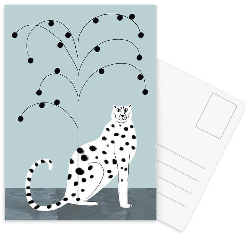 Tropicana - Cheetah and Tree Postcard Set