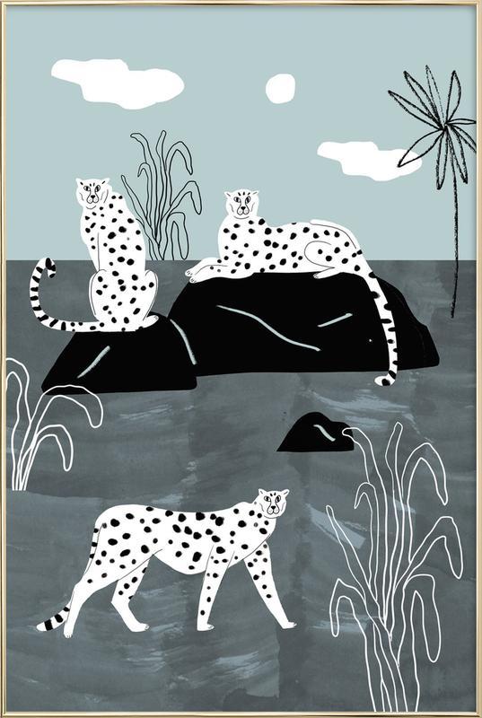 Tropciana - Royal Palm -Poster im Alurahmen