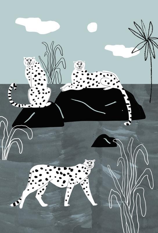 Tropciana - Royal Palm Aluminium Print