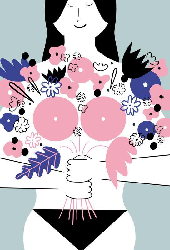 I Am a Flower Impression sur alu-Dibond