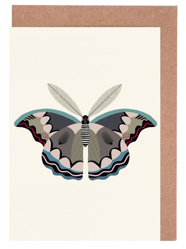 Butterflies - Atlas Moth -Grußkarten-Set