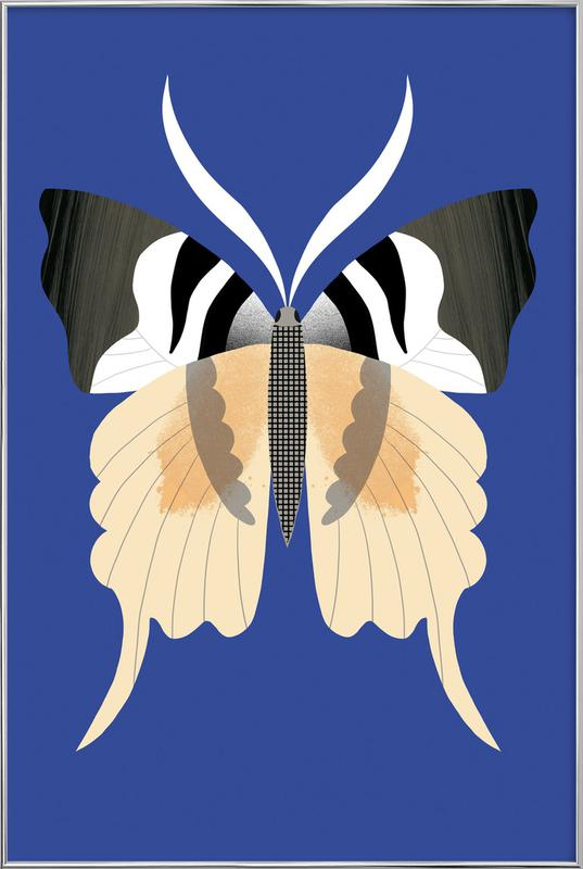 Butterflies - Tailed Emperor Poster in Aluminium Frame