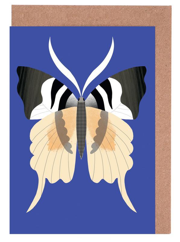 Nursery & Art for Kids, Butterflies, Butterflies - Tailed Emperor Greeting Card Set