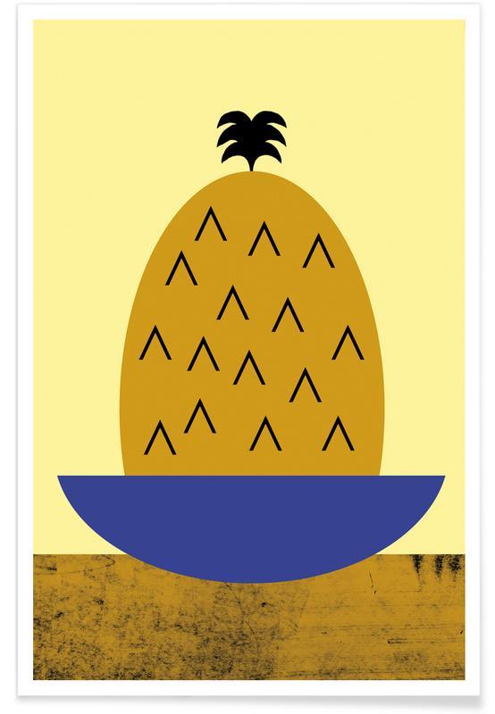 Ananas, Ananas-Illustration -Poster