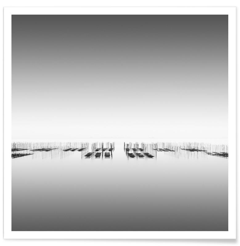 Noir & blanc, Océans, mers & lacs, Nori Study 9 affiche