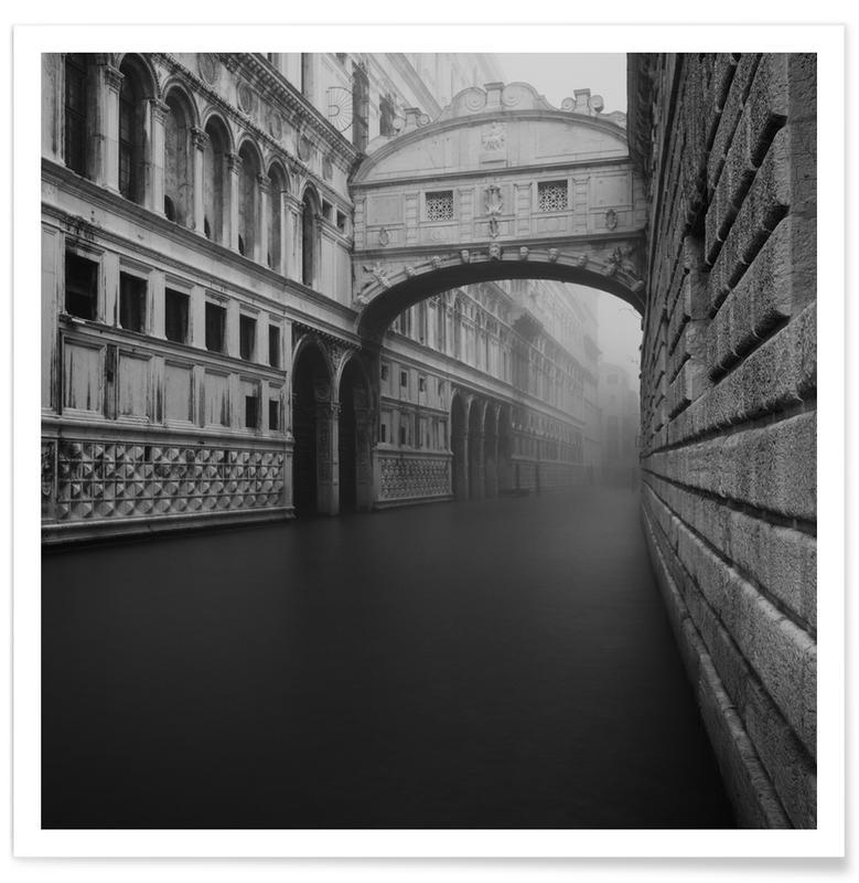 Venise, Noir & blanc, Ponte Dei Sospiri affiche