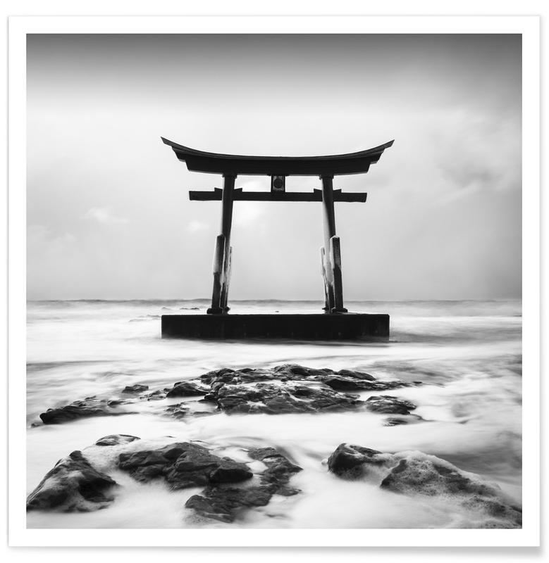 Noir & blanc, Torii Study 4 affiche