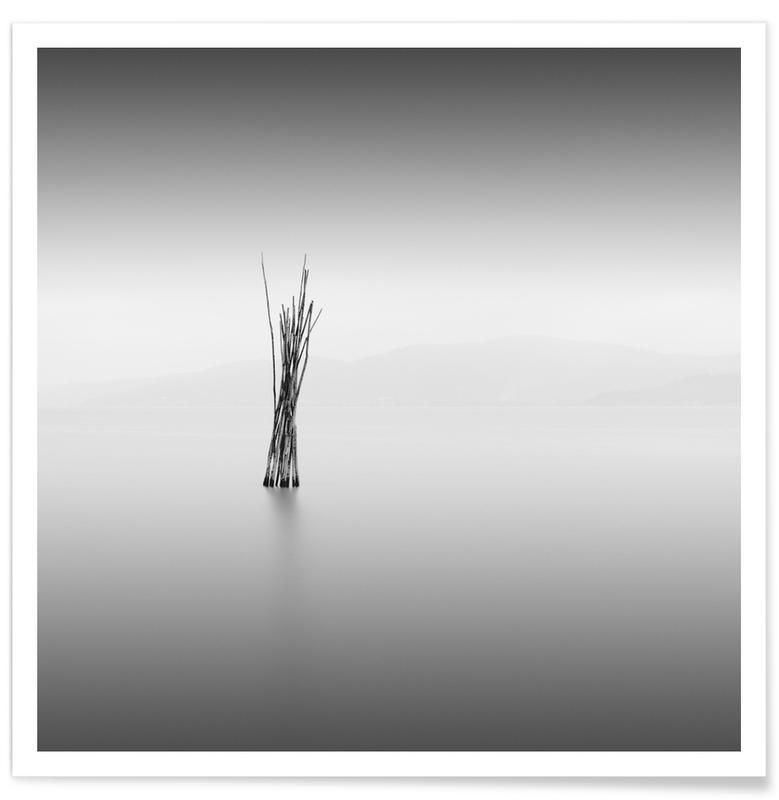 Noir & blanc, Océans, mers & lacs, Uno affiche