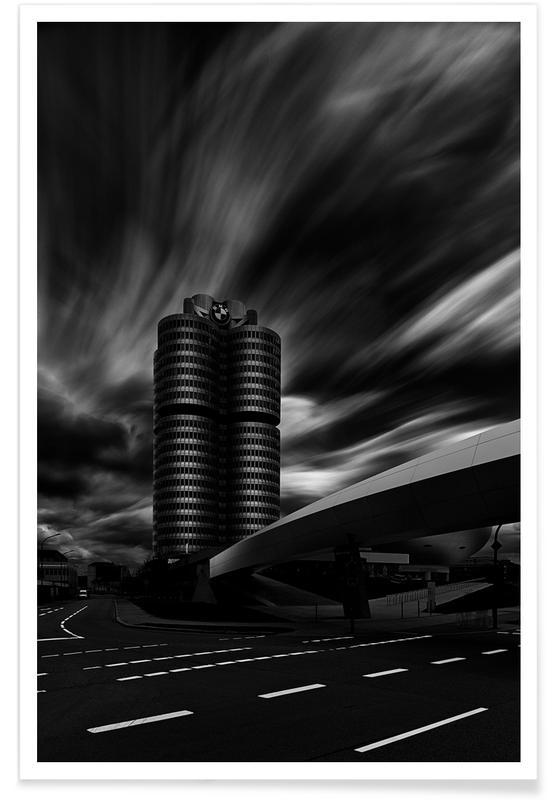 Schwarz & Weiß, Zylinders -Poster