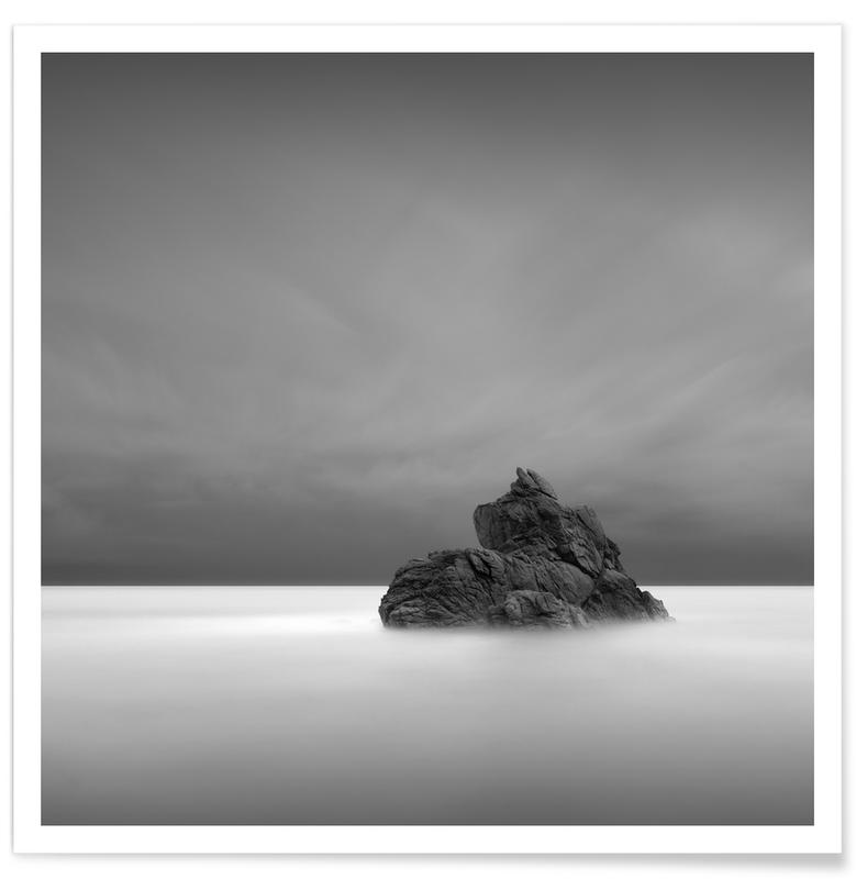 Noir & blanc, Océans, mers & lacs, Voyages, Solitude I affiche