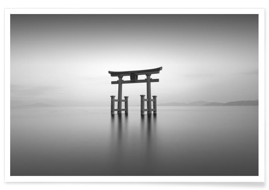 Noir & blanc, Océans, mers & lacs, Voyages, Torii Study III affiche
