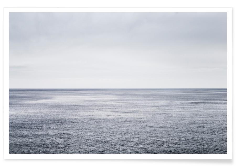 Noir & blanc, Océans, mers & lacs, Voyages, Ocean Study I affiche
