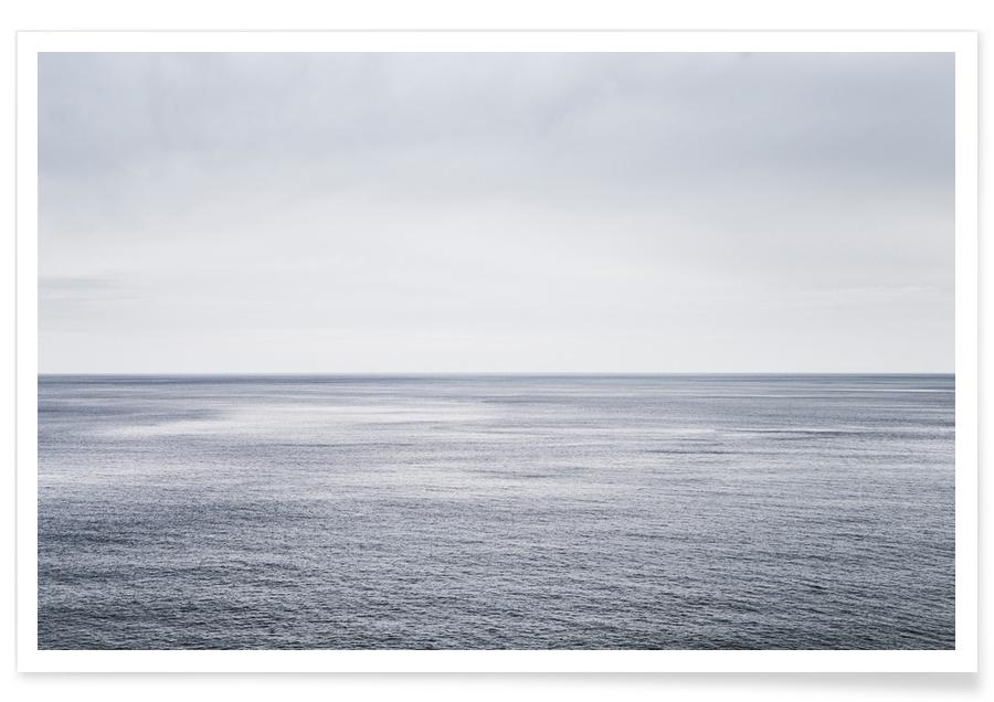 Schwarz & Weiß, Ozeane, Meere & Seen, Reise, Ocean Study I -Poster