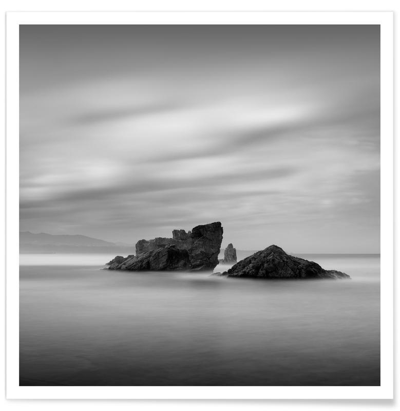 Noir & blanc, Océans, mers & lacs, Voyages, Tres Rocas affiche