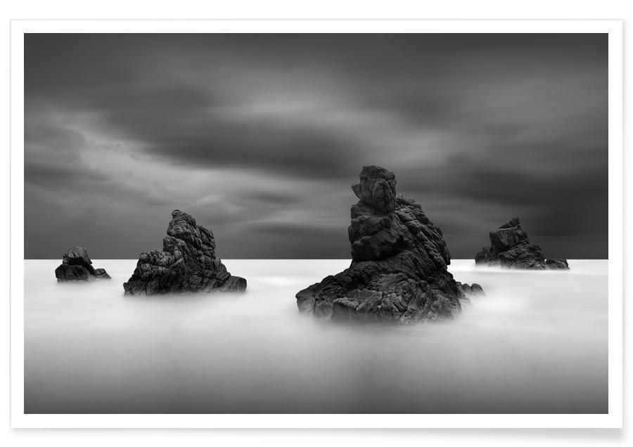 Océans, mers & lacs, Noir & blanc, Solitude Ii affiche