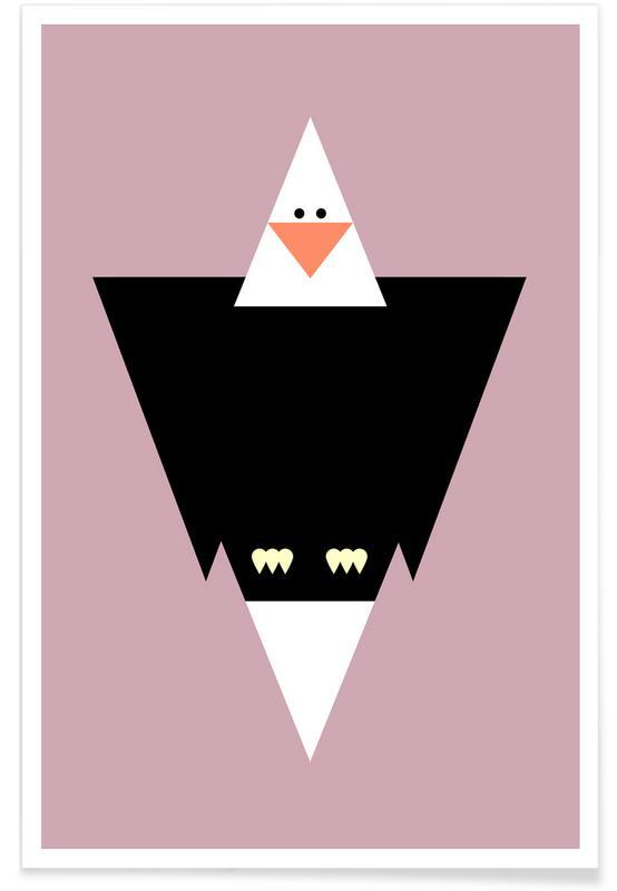 Adler, Kinderzimmer & Kunst für Kinder, Cliff the Eagle -Poster
