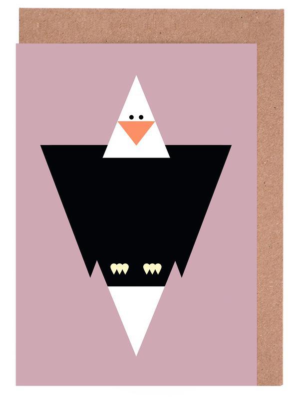 Aigles, Art pour enfants, Cliff the Eagle cartes de vœux