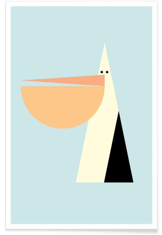 Art pour enfants, Pélicans, Stevie the Pelican affiche