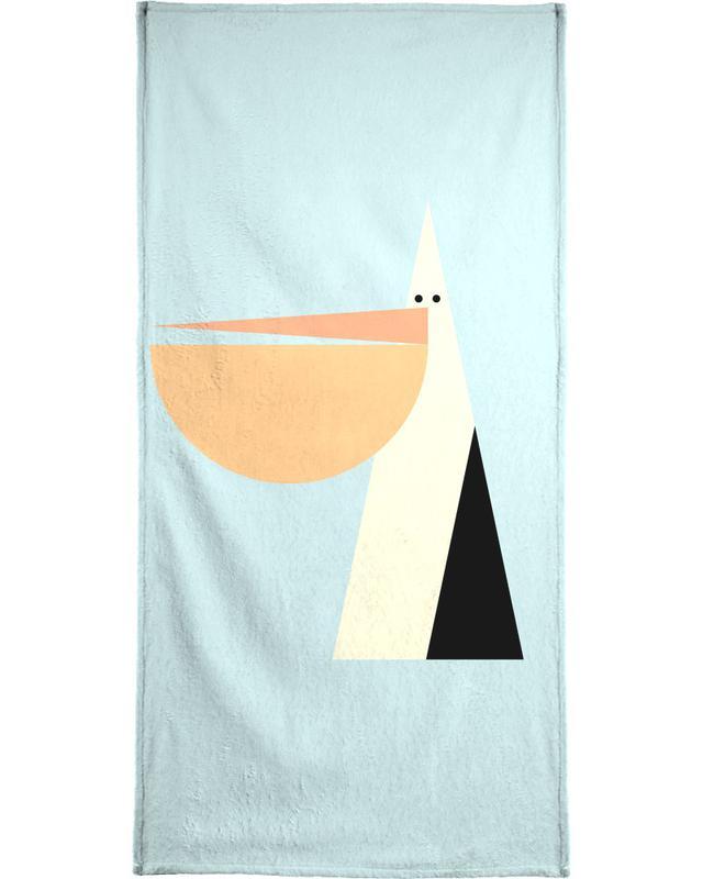 Nursery & Art for Kids, Pelicans, Stevie the Pelican Bath Towel