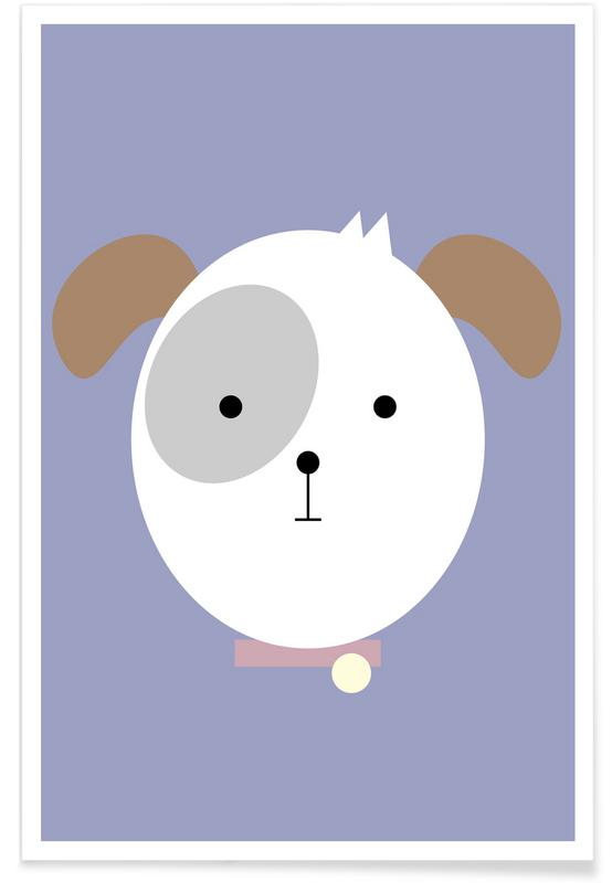 Dogs, Nursery & Art for Kids, Bonnie the Dog Poster