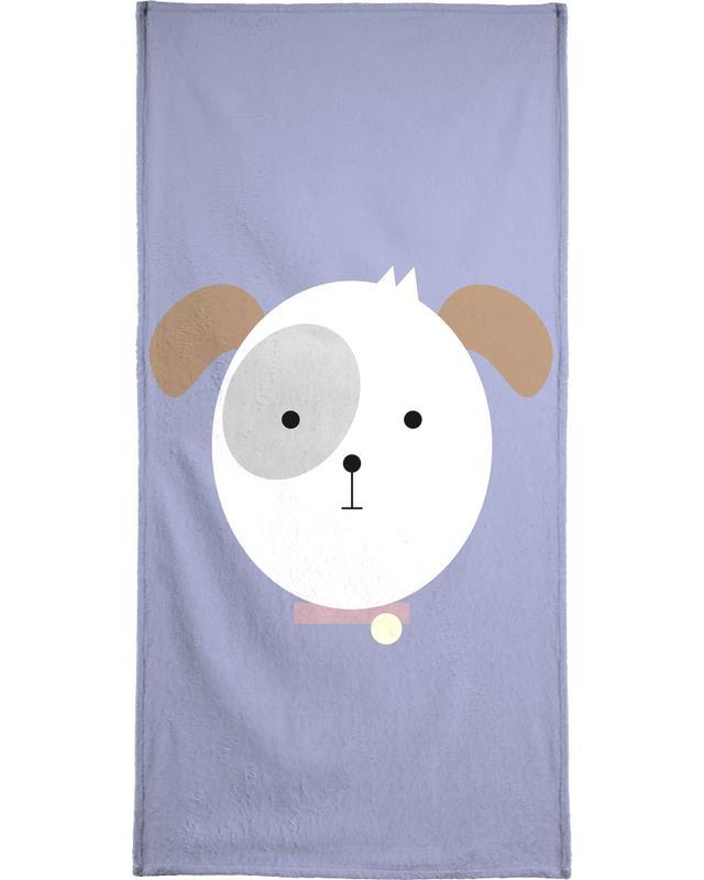 Dogs, Nursery & Art for Kids, Bonnie the Dog Bath Towel