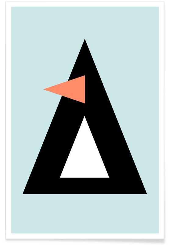 Art pour enfants, Pingouins, Sonny the Penguin affiche
