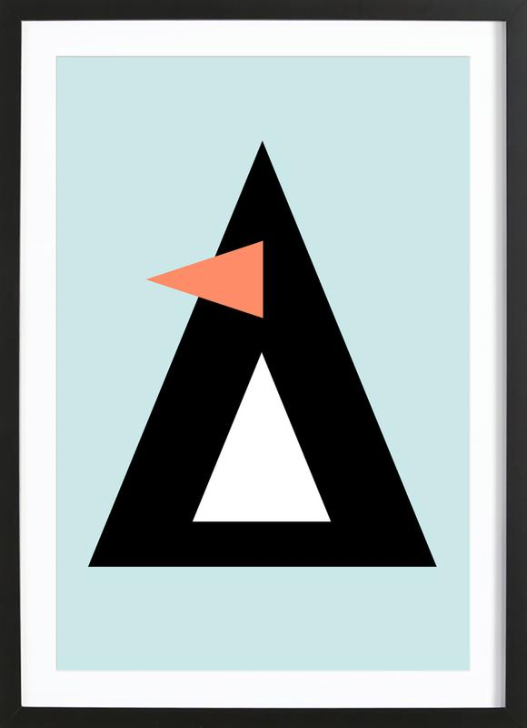 Sonny the Penguin -Bild mit Holzrahmen