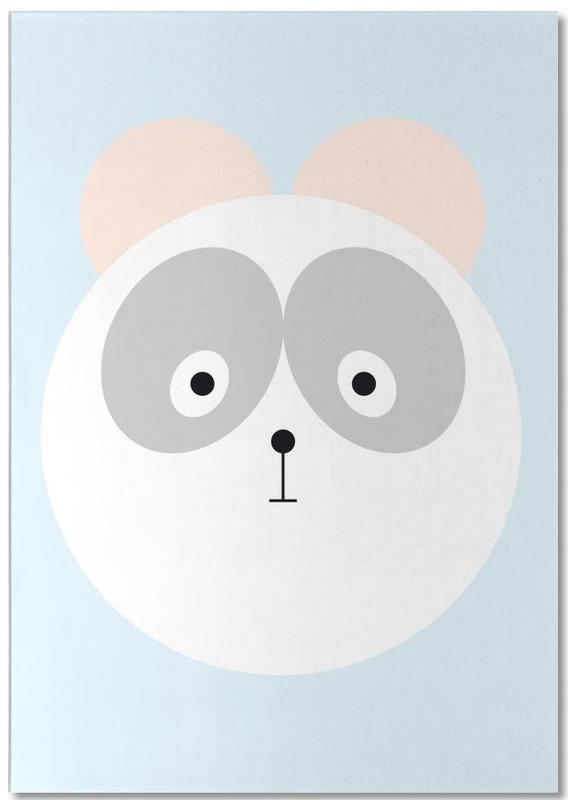 Bears, Nursery & Art for Kids, Elton the Panda Notepad
