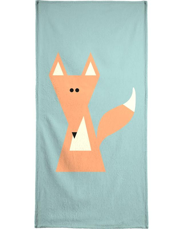 Foxes, Nursery & Art for Kids, Ray the Fox Bath Towel