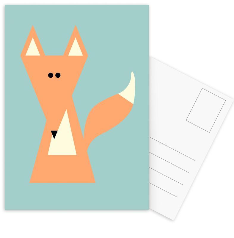 Ray the Fox Postcard Set
