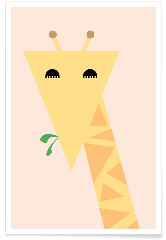 Girafes, Art pour enfants, Mariah the Giraffe affiche