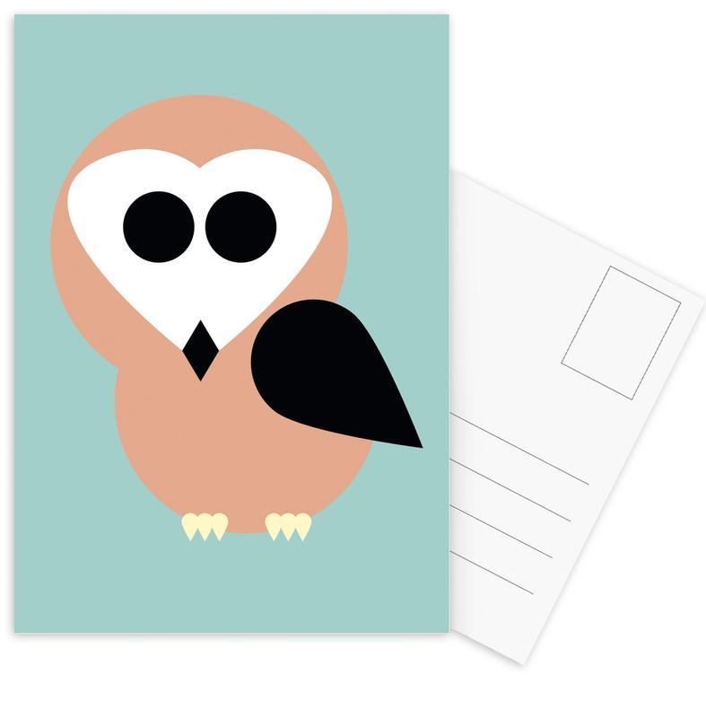Art pour enfants, Chouettes, Celine the Owl cartes postales
