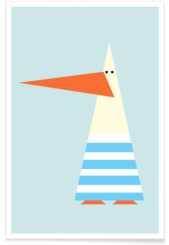 Kinderzimmer & Kunst für Kinder, Möwen, Ringo the Seagull -Poster