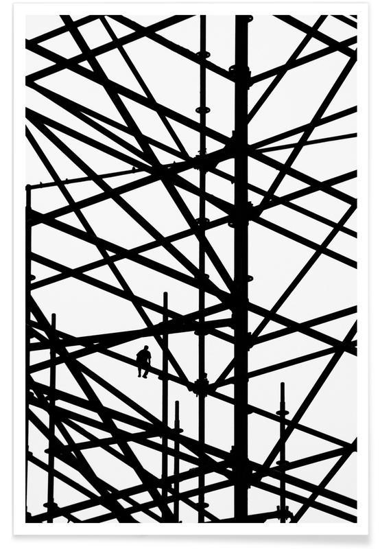 Architectural Details, Black & White, Coffee Break Poster