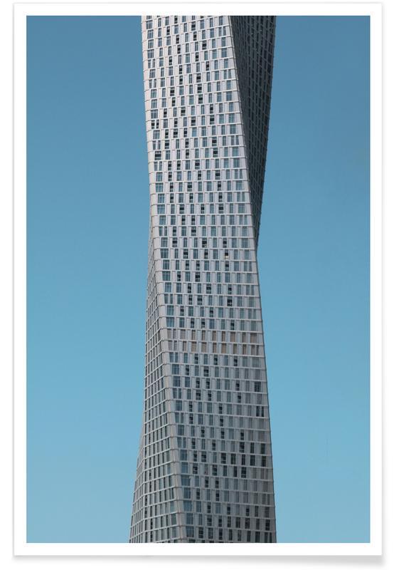 Wolkenkratzer & Hochhäuser, Twisted -Poster