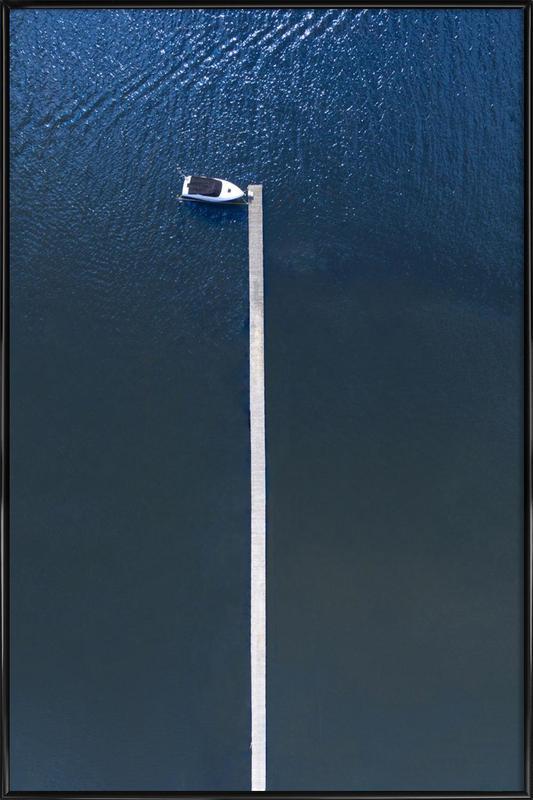 Lonely Boat ingelijste poster