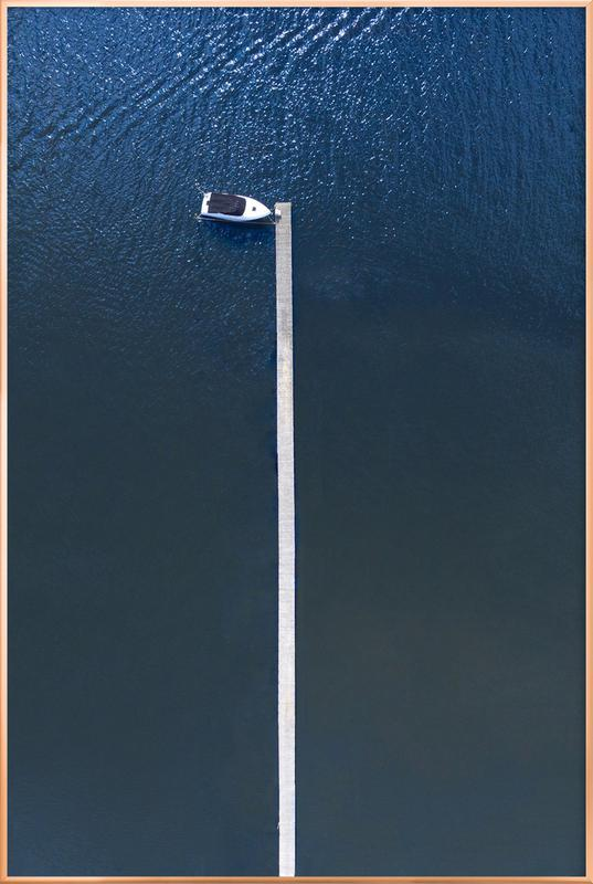 Lonely Boat Poster in Aluminium Frame